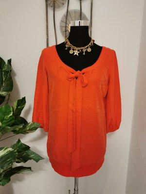 Comma Casual Identity Business Bluse mit Schleife orange Größe 36