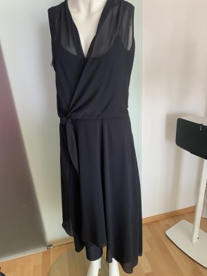 Comma Chiffon Dress dark blue