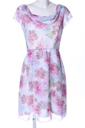 Comma Chiffon jurk volledige print elegant