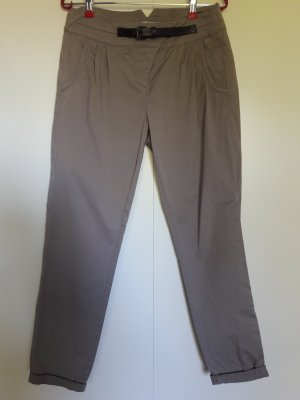 Comma Chinohose taupe Baumwolle mit  Applikation Gr. 36 wie neu