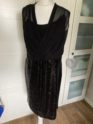 Comma cocktail abend kleid schwarz 42 mit Pailletten