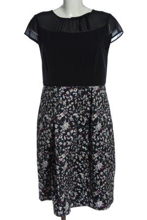 Comma Cocktailkleid schwarz-hellgrau Blumenmuster Elegant