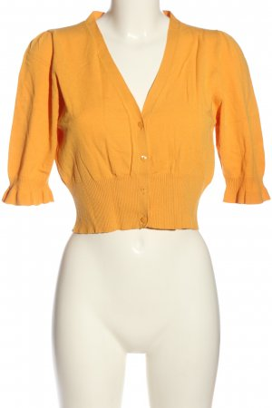 Comma Cropped Pullover hellorange Casual-Look