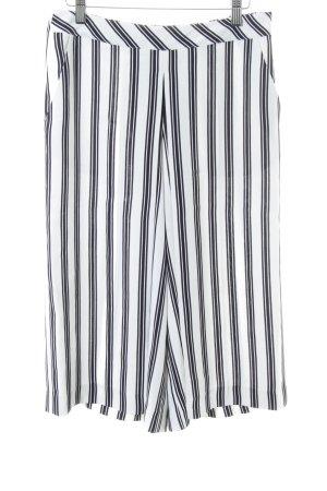 Comma Culottes weiß-schwarz Streifenmuster Casual-Look