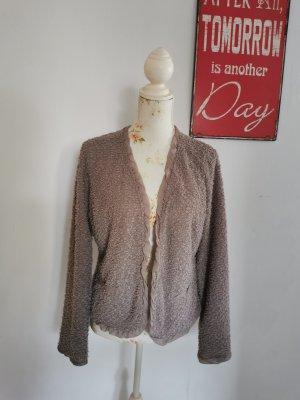 Comma Damen Feinstrick Jacke Fransenjacke mit Chiffon Größe XL NEU