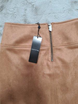 Comma Midi Skirt camel polyester