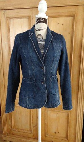 Comma - Denim Jeans Blazer mit Steppung - Casual Look - Gr. 38