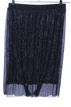 Comma Jupe à plis bleu élégant