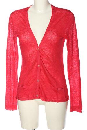 Comma Cienki sweter z dzianiny czerwony W stylu casual