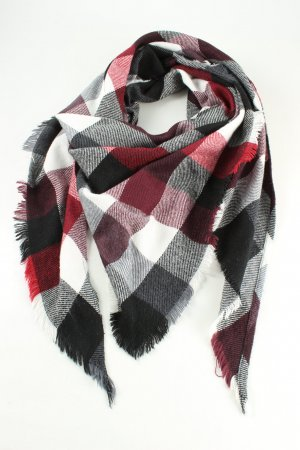 Comma Fringed Scarf check pattern casual look