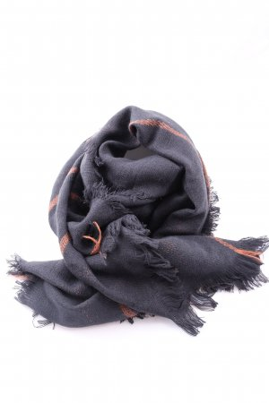 Comma Fringed Scarf black-light orange casual look