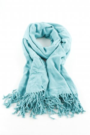 Comma Fringed Scarf turquoise casual look