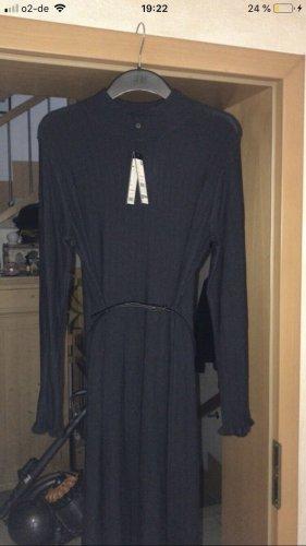 Comma Robe en laine bleu foncé