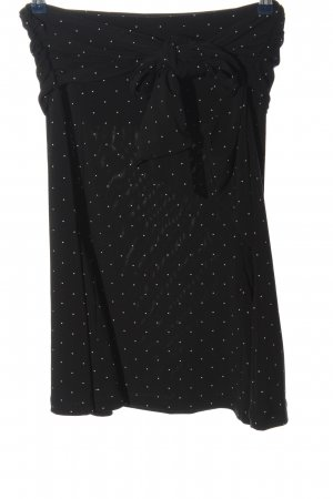 Comma Bandeau Top black-white spot pattern casual look