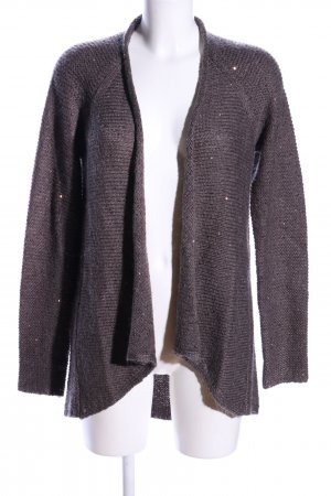Comma Grobstrickjacke braun Allover-Druck Casual-Look