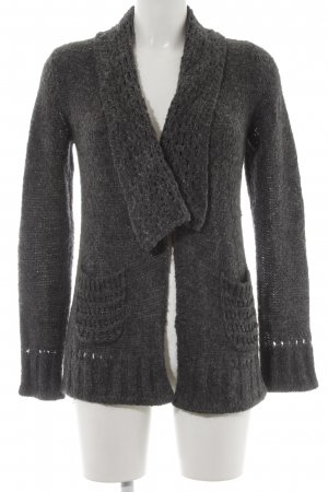 Comma Grobstrickjacke grau