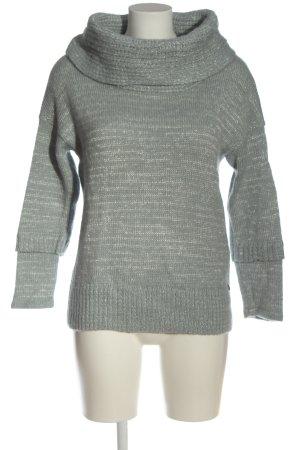 Comma Sweter z grubej dzianiny jasnoszary Warkoczowy wzór W stylu casual