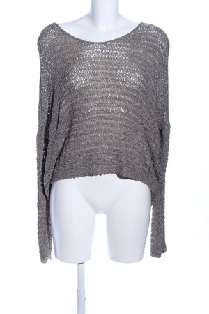 Comma Crochet Sweater light grey casual look