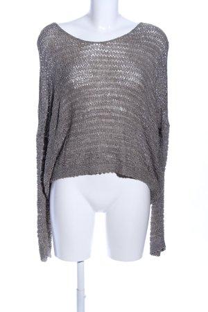 Comma Jersey de ganchillo gris claro look casual