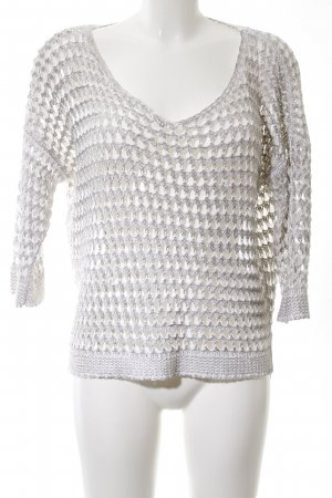 Comma Crochet Sweater light grey cable stitch casual look