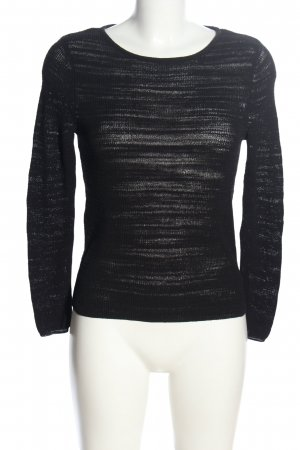 Comma Crochet Sweater black casual look