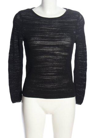 Comma Szydełkowany sweter czarny W stylu casual