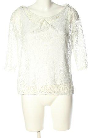 Comma Gehaakt shirt wit casual uitstraling