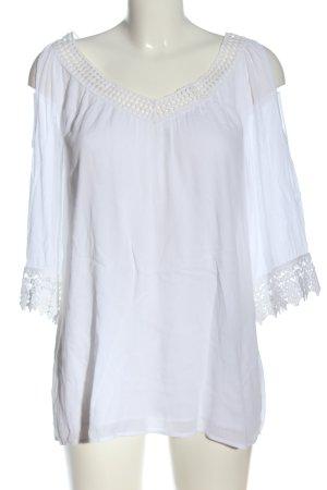 Comma Hemd-Bluse weiß Elegant