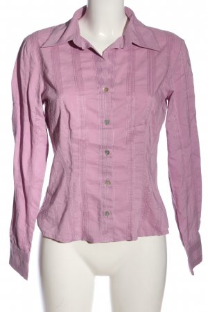 Comma Hemd-Bluse pink Streifenmuster Business-Look