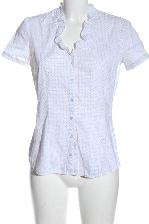 Comma Blouse-chemisier blanc-brun imprimé allover style décontracté