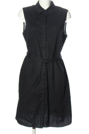 Comma Koszulowa sukienka czarny W stylu casual