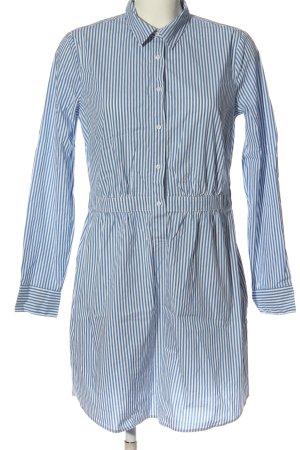 Comma Koszulowa sukienka biały-niebieski Wzór w paski W stylu biznesowym