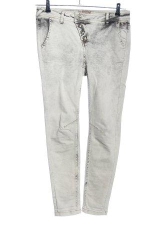 Comma Hoge taille jeans wit-zwart kleurverloop casual uitstraling