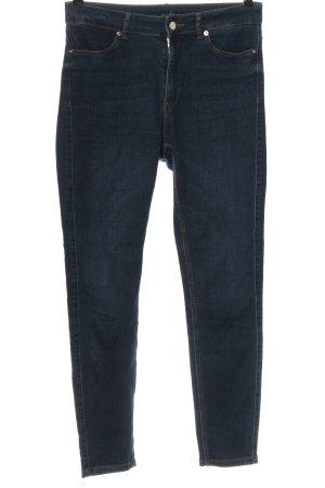 Comma Jeans a vita alta blu stile casual