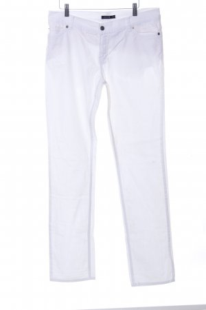 Comma Hoge taille jeans wit casual uitstraling