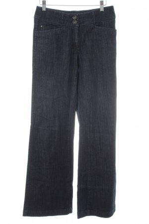 Comma Hoge taille jeans donkerblauw casual uitstraling