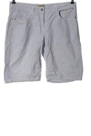 Comma High-Waist-Shorts weiß-hellgrau Allover-Druck Casual-Look