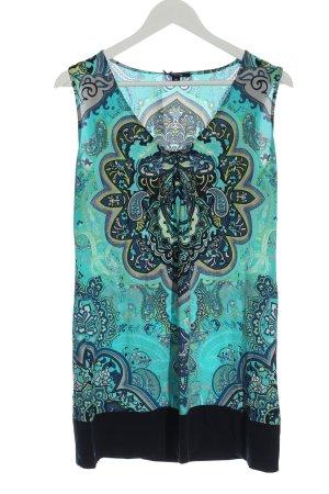 Comma Robe Hippie motif abstrait style décontracté