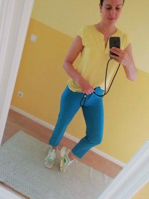 Comma Hose Ankle Röhre Neonblau