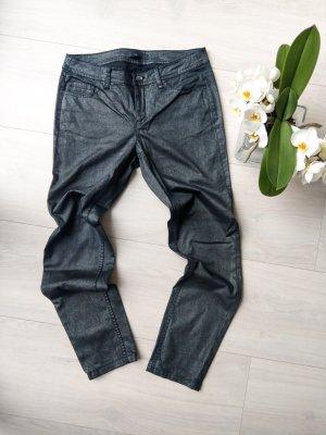 Comma Drainpipe Trousers black-silver-colored
