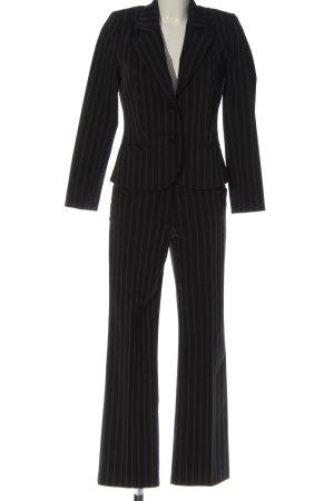 Comma Garnitur damski czarny-biały Wzór w paski W stylu biznesowym