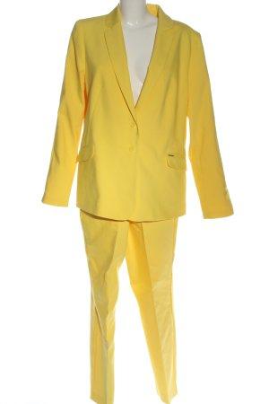 Comma Garnitur damski bladożółty W stylu biznesowym