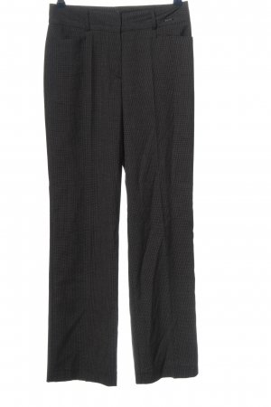 Comma Low-Rise Trousers black flecked business style