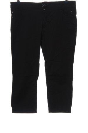Comma Pantalon taille basse noir style décontracté
