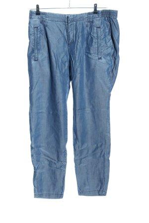 Comma pantalón de cintura baja azul look casual