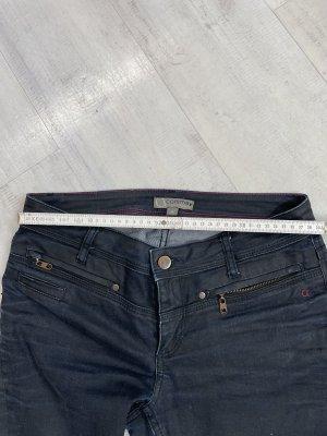 Comma Jeansy z prostymi nogawkami czarny-ciemnoniebieski