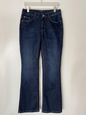 Comma Jeans FIONA flared fit dark blue denim Stretch Gr. 40 / 32 NEU