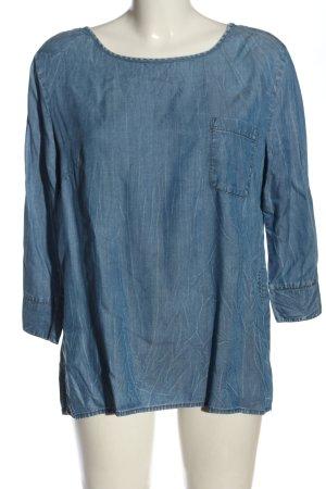Comma Jeansbluse blau meliert Casual-Look