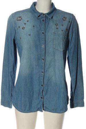 Comma Jeansowa koszula niebieski W stylu casual