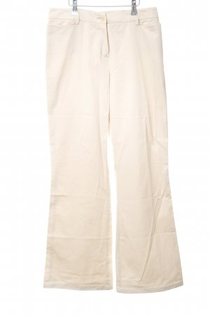 Comma Jeansschlaghose creme Casual-Look